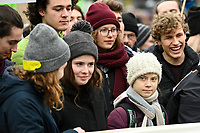 GERMANY, Hamburg city, Fridays for future movement, Save the Climate rally with 30.000 protesters for climate protection, in first row, swedish activist Greta Thunberg / DEUTSCHLAND, Hamburg, Fridays-for future Bewegung, Demo fuer Klimaschutz, Greta Thunberg  21.2.2020