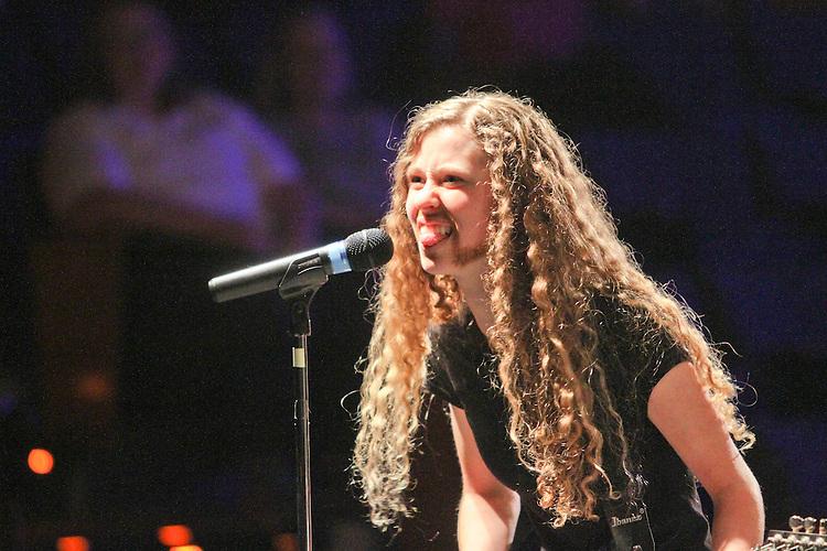 Katie Pace as James Hetfield of Metallica
