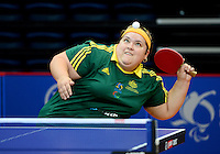 Kate Juillerat (AUS)<br /> 2013 ITTF PTT Oceania Regional<br /> Para Table Tennis Championships<br /> AIS Arena Canberra ACT AUS<br /> Wednesday November 13th 2013<br /> © Sport the library / Jeff Crow