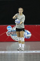 15 December 2007: Stanford Cardinal Gabi Ailes during Stanford's 2007 NCAA Division I Women's Volleyball Final Four closed practice at ARCO Arena in Sacramento, CA.