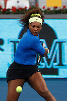 08.05.2012. Madrid, Spain, WTA Madrid Open Tennis Tournament. Match played between Anastasia Pavlyucheknova (RUS) vs Serena Williams (USA) Picture show Serena Williams during match.
