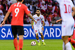Komail Hasan Alaswad of Bahrain (C) in action during the AFC Asian Cup UAE 2019 Round of 16 match between South Korea (KOR) and Bahrain (BHR) at Rashid Stadium on 22 January 2019 in Dubai, United Arab Emirates. Photo by Marcio Rodrigo Machado / Power Sport Images