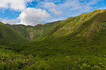 Views of the Halawa Valley from Highway 450 on the island of Molokai, Hawaii, USA
