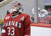 Kyle Richter (Harvard - 33) - The Boston University Terriers defeated the visiting Harvard University Crimson 5-2 on Saturday, January 15, 2011, at Agganis Arena in Boston, Massachusetts.