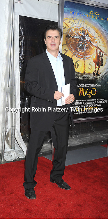 "Chris Noth attends The World Premiere of ""Hugo in 3D"" on November 21, 2011 at The Ziegfeld Theatre in New York City."