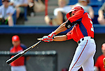 10 March 2012: Washington Nationals' outfielder Randolph Oduber. breaks his bat during game action against the New York Mets at Space Coast Stadium in Viera, Florida. The Nationals defeated the Mets 8-2 in Grapefruit League play. Mandatory Credit: Ed Wolfstein Photo