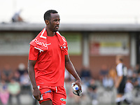 20190717 - LICHTERVELDE , BELGIUM : Mouscron's Fabrice Olinga Essono pictured during a friendly game between KSV Roeselare and Royal Excelsior Mouscron Moeskroen during the preparations for the 2019-2020 season , Wednesday 17 July 2019 ,  PHOTO DAVID CATRY | SPORTPIX.BE