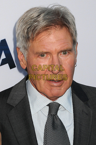Harrison Ford<br /> &quot;Paranoia&quot; Los Angeles Premiere held at the Directors Guild of America, West Hollywood, California, USA, 8th August 2013.<br /> portrait headshot  grey gray black white shirt earring suit tie <br /> CAP/ADM/BP<br /> &copy;Byron Purvis/AdMedia/Capital Pictures