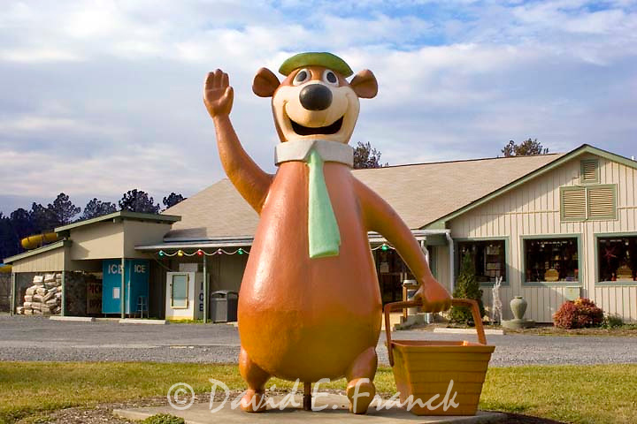Yogi Bear statue at a campground in Luray Virginia