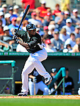 1 March 2009: Florida Marlins' left fielder Cameron Maybin in action during a Spring Training game against the St. Louis Cardinals at Roger Dean Stadium in Jupiter, Florida. The Cardinals outhit the Marlins 20-13 resulting in a 14-10 win for the Cards. Mandatory Photo Credit: Ed Wolfstein Photo