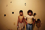 Fort Thompson, SD, USA. July 2009.Kids in their room. Like many other reservations Crow Creek also struggles with domestic violence