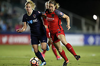 Cary, NC - Saturday April 22, 2017: McCall Zerboni (left) and Mallory Weber (right) during a regular season National Women's Soccer League (NWSL) match between the North Carolina Courage and the Portland Thorns FC at Sahlen's Stadium at WakeMed Soccer Park.
