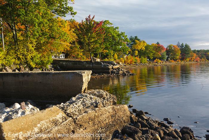Lake Massabesic in Auburn, New Hampshire USA during the autum months