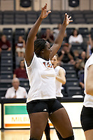 SAN ANTONIO, TX - NOVEMBER 9, 2007: The University of Texas of the Permian Basin Falcons compete during Day 1 of the Heartland Conference Women's Volleyball tournament held at Bill Greehey Arena on the campus of St. Mary's University. (Photo by Jeff Huehn)