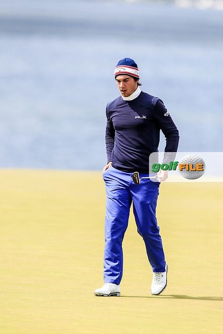 Matteo Manassero (ITA) during round 2 of the Aberdeen Asset Management Scottish Open 2016, Castle Stuart  Golf links, Inverness, Scotland. 08/07/2016.<br /> Picture Fran Caffrey / Golffile.ie<br /> <br /> All photo usage must carry mandatory copyright credit (&copy; Golffile | Fran Caffrey)