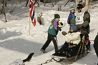March 3, 2007.  Anchorage, Alaska.  Bryan Mills On the ceremonial start day of the Iditarod Trail Sled Dog Race
