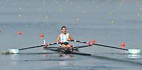 Brest, Belarus.  ARG BLW1X, Priscilla BERALDO. at the start.  2010. FISA U23 Championships. Thursday,  22/07/2010.  [Mandatory Credit Peter Spurrier/ Intersport Images]
