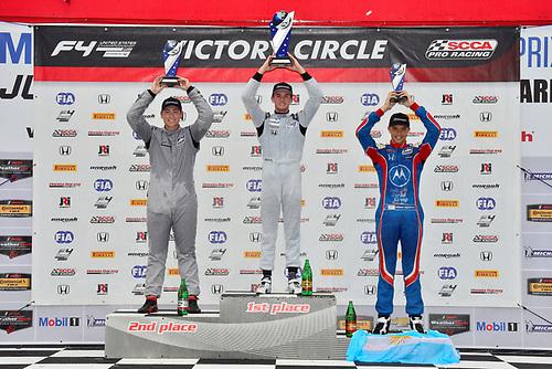 F4 US Championship<br /> Rounds 7-8-9<br /> Canadian Tire Motorsport Park<br /> Bowmanville, ON CAN<br /> Sunday 9 July 2017<br /> podium<br /> World Copyright: Gavin Baker<br /> LAT Images