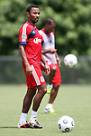 04 June 2012: James Riley. Chivas USA held a training session on Field 6 at WakeMed Soccer Park in Cary, NC the day before playing in a 2012 Lamar Hunt U.S. Open Cup fourth round game.