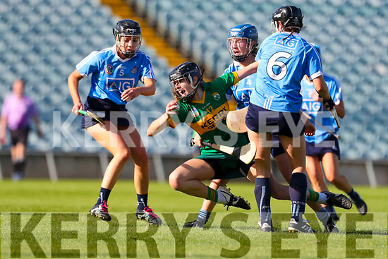 Ann Marie Leen, Kerry in action against Dublin in the Camogie All Ireland Semi Finals at The Gaelic Grounds Limerick on Saturday.