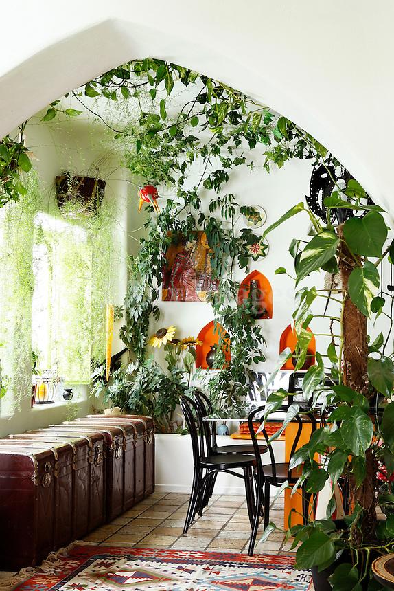 balcony with plants