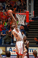 SAN ANTONIO, TX - FEBRUARY 17, 2007: The Texas State University Bobcats vs. The University of Texas at San Antonio Roadrunners Men's Basketball at the UTSA Convocation Center. (Photo by Jeff Huehn)