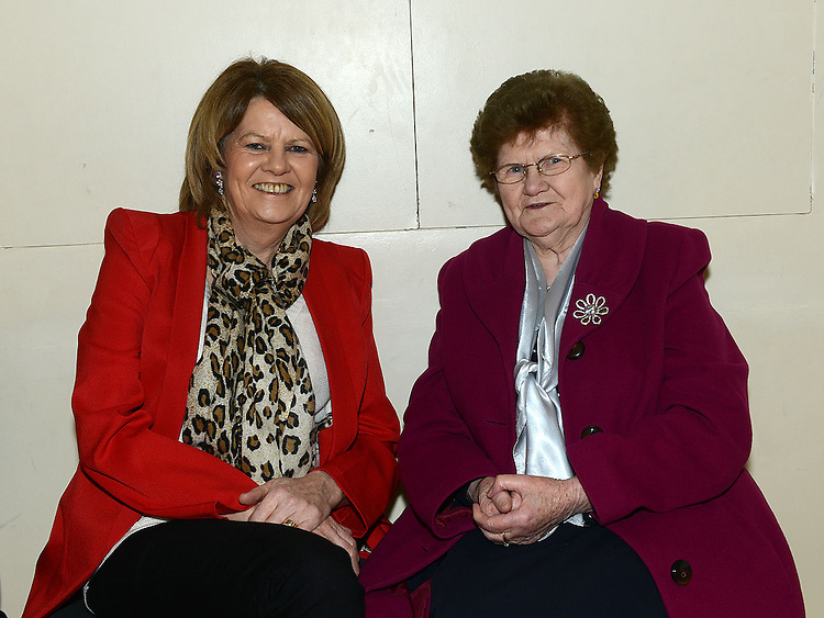 Ann Noone and Jenny Traynor pictured at the Comhaltas Ceoltóirí Eireann Irish Night In aid of the Conor's Traynor Fund in Holy Family Community Centre, Ballsgrove. Photo:Colin Bell/pressphotos.ie