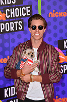 Shaun White & Leroy at the Nickelodeon Kids' Choice Sports Awards 2018 at Barker Hangar, Santa Monica, USA 19 July 2018<br /> Picture: Paul Smith/Featureflash/SilverHub 0208 004 5359 sales@silverhubmedia.com