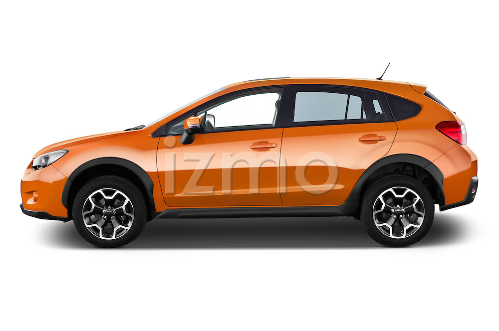 Car Driver side profile view of a 2015 Subaru XV-Crosstrek Premium 5 Door SUV Side View