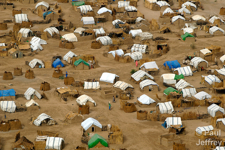 A camp for internally displaced persons in Sudan's Darfur region.