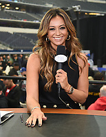 DALLAS, TX - MARCH 15: Fox Sports boxing commentator Kate Abdo at the weigh-in for the Fox Sports PBC Pay-Per_View World Welterweight Championship fight at AT&T Stadium on March 15, 2019 in Dallas, Texas. The fight is on March 16 at 9PM ET/6PM PT. (Photo by Frank Micelotta/Fox Sports/PictureGroup)