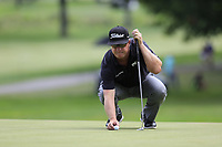 Charley Hoffman (USA) on the 9th green during Sunday's Final Round of the WGC Bridgestone Invitational 2017 held at Firestone Country Club, Akron, USA. 6th August 2017.<br /> Picture: Eoin Clarke | Golffile<br /> <br /> <br /> All photos usage must carry mandatory copyright credit (&copy; Golffile | Eoin Clarke)