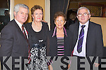 SUPPORTERS DINNER: Enjoying the Kerry Supporters Club annual dinner at the Ballygarry House hotel and Spa on Saturday l-r: Dan and Nuala Dwyer, Kilcummin and Mary Tomas Rohan, Newcastlewest.