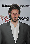 WEST HOLLYWOOD, CA. - October 12: L.A. Lakers NBA Player Pau Gasol arrives at the opening celebration for Philippe West Hollywood on October 12, 2009 in Los Angeles, California.