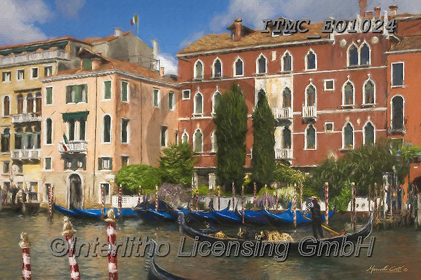 Marcello, LANDSCAPES, LANDSCHAFTEN, PAISAJES, paintings+++++,ITMCEO1024,#l#, EVERYDAY ,venice ,puzzles