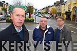 Cormac O'Mahony with Cllr Bobby O'Connell and Jeremy Burke from the Castleisland bypass committee who were disgusted to hear that the bypass will not go ahead this year on Wednesday   Copyright Kerry's Eye 2008