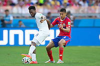 Daniel Sturridge of England and Oscar Duarte of Costa Rica