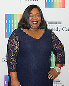 Shonda Rhimes arrives for the formal Artist's Dinner honoring the recipients of the 2013 Kennedy Center Honors hosted by United States Secretary of State John F. Kerry at the U.S. Department of State in Washington, D.C. on Saturday, December 7, 2013. The 2013 honorees are: opera singer Martina Arroyo; pianist,  keyboardist, bandleader and composer Herbie Hancock; pianist, singer and songwriter Billy Joel; actress Shirley MacLaine; and musician and songwriter Carlos Santana.<br /> Credit: Ron Sachs / CNP