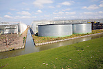Intensive horticulture with greenhouses and water storage tanks, Maasluis, Netherlands