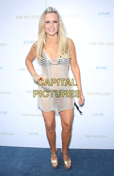 Tamra Barney.Azure at the Palazzo welcomes Tamra Barney of The Real Housewives of Orange County, Las Vegas, Nevada, USA, .18th May 2013..full length hand on hip wedges  black top bikini silver dress crochet see thru through .CAP/ADM/MJT.© MJT/AdMedia/Capital Pictures