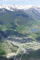 aerial Crested Butte, CO