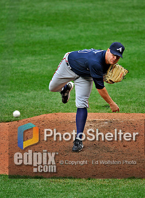 12 April 2008: Atlanta Braves' pitcher Jeff Bennett in action against the Washington Nationals at Nationals Park, in Washington, DC. The Braves defeated the Nationals 10-2...Mandatory Photo Credit: Ed Wolfstein Photo