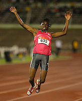 Brittney Reece won the long jump with a mark of 6.61m at the Jamaica International Invitational Meet held in Kingston, Jamaica May 2nd. 2009. Photo by Errol Anderson,The Sporting Image.net