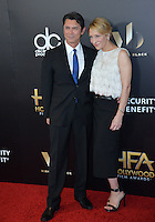 BEVERLY HILLS, CA. November 6, 2016: Actor Lou Diamond Phillips &amp; wife Yvonne Boismier Phillips at the 2016 Hollywood Film Awards at the Beverly Hilton Hotel.<br /> Picture: Paul Smith/Featureflash/SilverHub 0208 004 5359/ 07711 972644 Editors@silverhubmedia.com