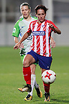 Atletico de Madrid's Marta Corredera (r) and VfL Wolfsburg's Lara Dickenmann during UEFA Womens Champions League 2017/2018, 1/16 Final, 1st match. October 4,2017. (ALTERPHOTOS/Acero)
