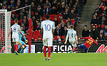 England's Tom Heaton gets beaten by Spain's Isco for their second goal during the friendly match at Wembley Stadium, London. Picture date November 15th, 2016 Pic David Klein/Sportimage