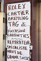 Europe/France/06/Alpes-Maritimes/Nice: Enseigne réparateur Montres de Luxe