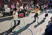 Hoola Hoop contest.  Community Champions event, Mozart Estate.