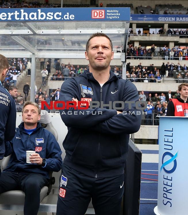 16.05.2015, OLympiastadion, Berlin, GER, 1.FBL, Hertha BSC vs. Eintracht Frankfurt, im Bild Cheftrainer (Head Coach) Pal Dardai (Hertha BSC Berlin)<br /> <br />               <br /> Foto &copy; nordphoto /  Engler