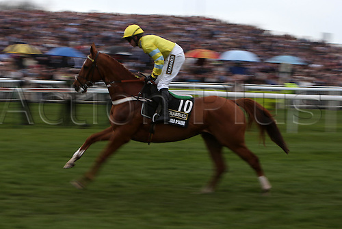 09.04.2016. Aintree, Liverpool, England. Crabbies Grand National race on  Festival Day 3. Triolo D'Alene, ridden by jockey Jeremiah McGrath